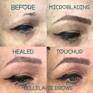 Healed Microblading Results