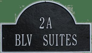 Belle La Vie Beauty Bar Address Plaque